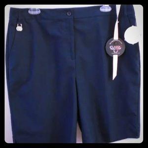 Charter Club Womens 14 Blue Bermuda Golf Shorts